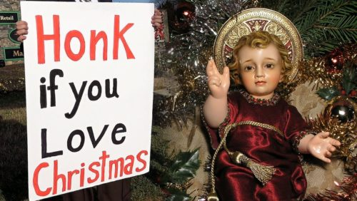 Sign the petition against Robious Middle School for banning Jesus:  https://www.tfpstudentaction.org/petitions/school-bans-jesus-for-christmas-concert   Attributions: 1.  Christmas in the Park exhibit 6 by Oleg Alexandrov  This file is licensed under the Creative Commons Attribution-Share Alike 3.0 Unported license(https://creativecommons.org/licenses/by-sa/3.0/deed.en)  Colorgraded Source: https://commons.wikimedia.org/wiki/File:Christmas_in_the_Park_exhibit_6.JPG Artist: https://commons.wikimedia.org/wiki/User:Oleg_Alexandrov  2.  Christmas in the Park  by FASTILY This file is licensed under the Creative Commons Attribution-Share Alike 4.0 International license (https://creativecommons.org/licenses/by-sa/4.0/deed.en) Colorgraded Source: https://commons.wikimedia.org/wiki/File:Christmas_in_the_Park_5_2016-12-30.jpg Artist: https://commons.wikimedia.org/wiki/User_talk:Fastily  3. Carol Of The Bells by Audionautix is licensed under a Creative Commons Attribution license (https://creativecommons.org/licenses/by/4.0/) Artist: http://audionautix.com/