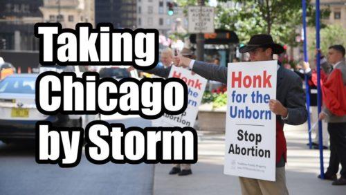 """Why do pro-aborts yell """"Hail Satan""""?  While we prayed the Hail Mary, they invoked Satan.  It happened in Chicago during our recent tour for the unborn.  Read the full report here: https://www.tfpstudentaction.org/media/videos/challenging-the-culture-of-death  Attribution: All Brass Music performed by St. Louis de Montfort Academy  Fife and Drum Music performed by US Army Old Guard and Middlesex Fife and Drum Corps"""