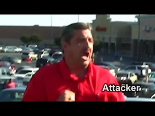 """http://www.tfpstudentaction.org/what-we-do/street-campaigns/man-attacks-american-flag-tfp-members.html -- Free speech is less free in Arkansas.  In fact, volunteers with Tradition Family and Property (TFP—Louisiana) were recently attacked in Little Rock during a peaceful rally against Obamacare and its HHS mandate.  The incident occurred on July 17.  Man Targets American flag  At the McCain Mall in North Little Rock, a middle-aged man came up from behind the group as they calmly prayed the rosary. First he said, """"Praise be Mary,"""" giving the impression he was friendly.  Next he shouted, """"Get the hell out of here!"""" and rushed our American flag bearer Elias Bartel, knocking him off his feet with a violent blow.  Old Glory fell over, but not completely because the 19-foot flag pole caught a power line on the way down and was quickly recovered and set upright again.  """"I was pretty shocked...  The first thing he did was target the American flag.  He wanted to throw it on the ground,"""" said Bartel. """"What he did was beyond disrespect.""""  Second attack  The attacker did not stop there.  Without pause, he immediately assaulted our second volunteer, Jesus Guerra, who was holding the TFP banner which displays a rampant lion and the motto:  """"Tradition, Family, and Property.""""  As the video clearly shows, our young volunteer was pushed with such violence that he fell backward onto a fire hydrant.  The banner also fell.    """"I'm bruised, but not about to give up,"""" Guerra remarked.  """"The attacker's behavior reflects the socialist mindset:  if they can't win the debate, they bully you. If they can't silence the Church on moral values, they use mandates and intimidation.""""  As TFP—Louisiana member Cesar Franco dialed 911, the assailant smacked the phone out of his hand.  Finally, the police arrived and a report was made.  Connect with us:  http://www.facebook.com/TFPStudentAction https://twitter.com/tfpsa"""