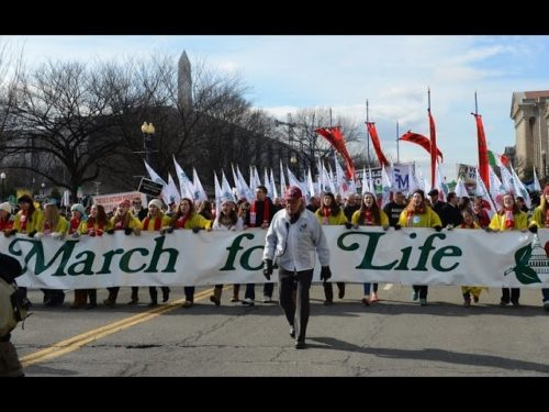 You'll love this video clip of the March for Life in WDC. About 500,000 pro-lifers march up Capitol Hill in defense of the unborn.   Share this video.  Be the voice of the unborn.  Share.
