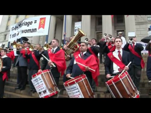 http://www.tfpstudentaction.org -- TFP participated in a march for Traditional Marriage in the Bronx, New York City, sponsored by State Senator Ruben Diaz. In spite of the rain, thousands of people came to express their rejection of same-sex marriage.  Connect with us on:  -- Facebook  http://www.facebook.com/TFPStudentAction -- YouTube  http://www.youtube.com/tfpstudentaction -- Twitter  http://twitter.com/#!/tfpsa