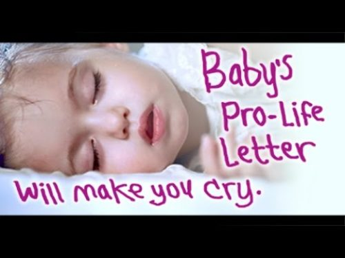 http://www.tfpstudentaction.org/ -- Will America listen to this baby's story?  If you want to help stop abortion, then share this video.  Share if you care.  God bless you.