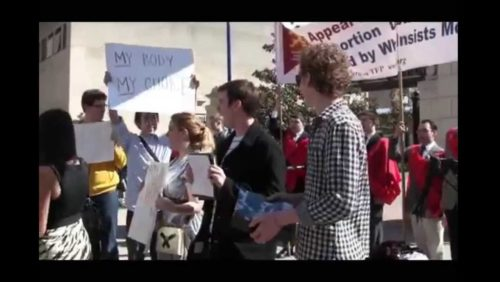 http://www.tfpstudentaction.org/ -- On the front lines for moral values, TFP Student Action volunteers face pro-abortion students at GWU.