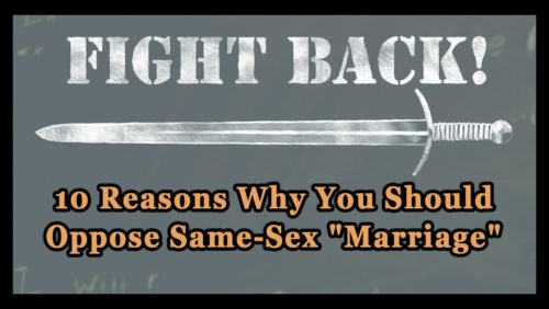 why same sex marriage is wrong catholic in Staffordshire