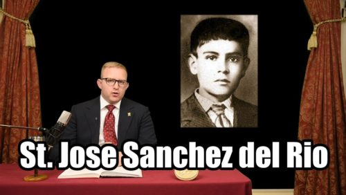 """TFP Student Action tells the tremendous story of the boy Cristero martyr- Saint Jose Sanchez del Rio who was featured in the movie, """"For Greater Glory"""" about the Mexican Cristero War.  Read the full story:  https://www.tfpstudentaction.org/blog/jose-sanchez-del-rio-hero-for-christ-the-king   Creative Commons Attributions for Picture Used:  """"Mexico Flag Cristeros.svg""""  by Mexico_Flag_(Cristeros).png: User:Immaculate- derivative work: Jorge Compassio (talk)   CC-BY-SA- 3.0 Colorgraded, feathered. https://commons.wikimedia.org/wiki/File:Mexico_Flag_Cristeros.svg"""