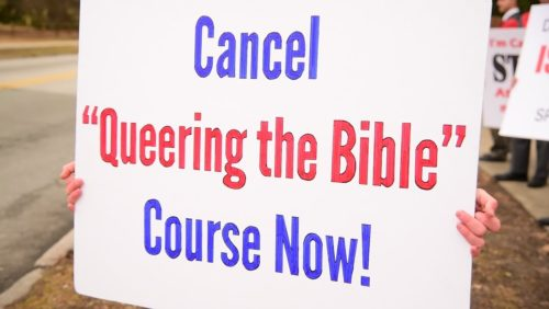 """Sign the protest against the blasphemous """"Queering the Bible"""" course at Swarthmore College: https://www.tfpstudentaction.org/petitions/swarthmore-college-attacks-god-with-queering-the-bible-course"""