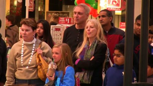 "http://www.tfpstudentaction.org/ -- Unexpected Christmas Concert Suprises Mall Shoppers  Hundreds of shoppers rushing about the mall for last-minute deals slowed down, then stopped completely.  Listen, listen:  A surprise Christmas concert by TFP Student Action volunteers and students of Saint Louis de Montfort Academy captured their undivided attention.  Eyes lit up, children smiled, and some shoppers even joined the singing.  The general atmosphere became more calm and at the end of the last song, ""Christmas Finale,"" shoppers cheered and applauded.  ""Thank you so much.  That was a real treat,"" remarked one lady.  Many others echoed her sentiments at the Park City Center Mall in Lancaster, Penn.    http://www.tfpstudentaction.org/what-we-do/news-and-updates/video-unexpected-christmas-concert-surprises-mall-shoppers.html"