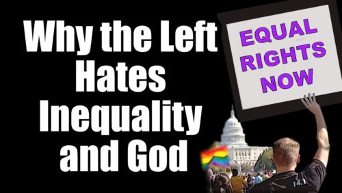 """Why is equality so trendy?  On most college campuses you hear about """"marriage"""" equality, income equality, gender equality, and social equality.   What does all this egalitarianism really mean?   http://www.tfpstudentaction.org/politically-incorrect/socialism/why-the-left-hates-inequality-a-god.html  Creative Commons Attributions for Pictures Used: Picture 1: """"Equal Rights Now National Equality March Washington DC 2009 4006527887.jpg"""" by Tony Webster CC-BY-SA- 4.0 Colorgraded, grain added, layered, cropped, touched up, colored. https://commons.wikimedia.org/wiki/File:Equal_Rights_Now_National_Equality_March_Washington_DC_2009_4006527887.jpg  Picture 2: """"Stalin Museum Batumi.jpg"""" by Ephraim Stillberg CC-BY-SA-3.0 Border added, cropped, colorgraded. https://commons.wikimedia.org/wiki/File:Stalin_Museum_Batumi.jpg  Picture 3: """"Tuol Sleng - Prisoner #229"""" by mendhak CC-BY-SA-2.0 Border added, cropped. https://www.flickr.com/photos/mendhak/3594002233/in/gallery-marcmuller-72157622261871999/  Picture 4: """"Photos of victims in Tuol Sleng prison (2).JPG"""" by Dudva CC-BY-SA-3.0 Border added, color graded, cropped. https://en.wikipedia.org/wiki/Killing_Fields#/media/File:Photos_of_victims_in_Tuol_Sleng_prison_%282%29.JPG  Picture 5: """"Notre Dame I (REIMS-CATHEDRAL) (904620963).jpg"""" by Chi King CC-BY-2.0 Feathered, unsharpened https://commons.wikimedia.org/wiki/File:Notre_Dame_I_%28REIMS-CATHEDRAL%29_%28904620963%29.jpg  Picture 6: """"Tereshchenko Diamond and Hope Diamond.jpg"""" by Cyberfoxy6 CC-BY-SA-4.0 Border added, cropped https://commons.wikimedia.org/wiki/File:Tereshchenko_Diamond_and_Hope_Diamond.jpg  Picture 7: """"Rose Kardinal crop.jpg"""" by Laitche CC-BY-3.0 Border added https://commons.wikimedia.org/wiki/Commons:Featured_picture_candidates/Log/June_2013#/media/File:Rose_Kardinal_crop.jpg  Picture 8: """"Ivan Stranski professor 1940.jpg"""" by Sofia university archives CC-BY-SA-3.0 Border added. https://en.wikipedia.org/wiki/Ivan_Stranski#/media/File:Ivan_Stranski_professor_1940.jpg  """